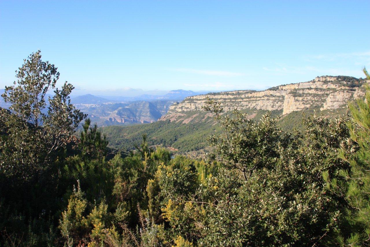 Vistes en direcció al Vallès Oriental