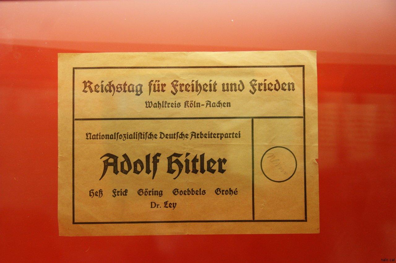 Butlleta per votar a Hitler
