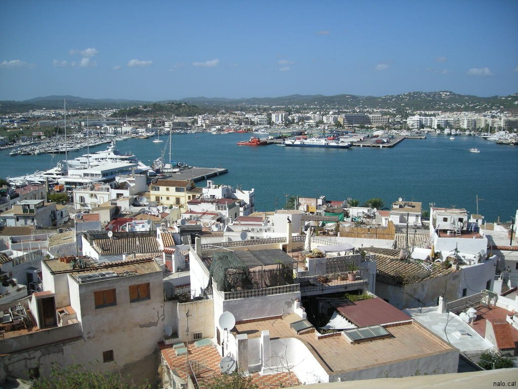 Vista del port d\'Eivissa