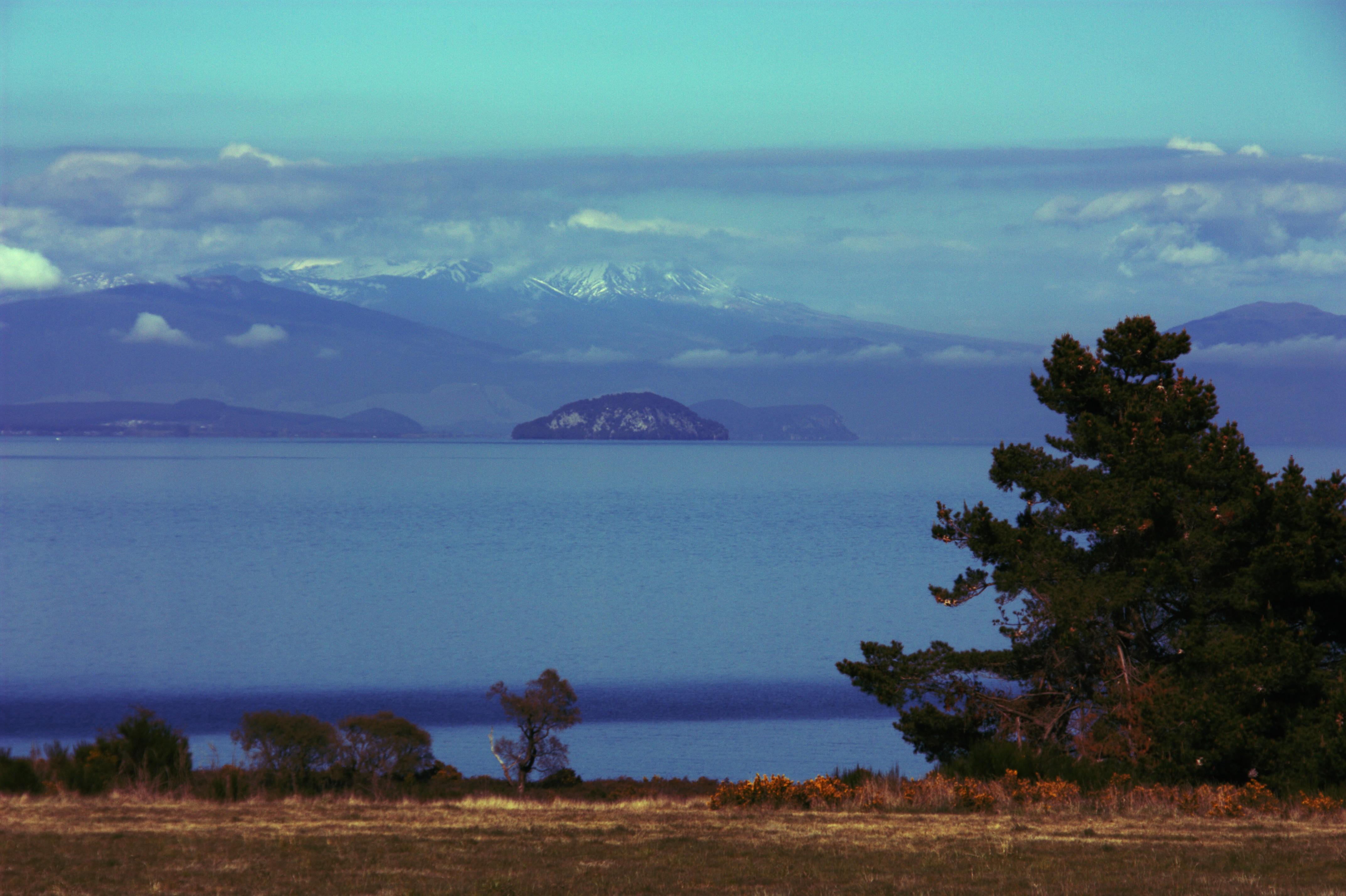 Llac Taupo amb vistes al Tongariro